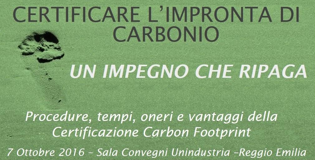 Certificazione Carbon Footprint